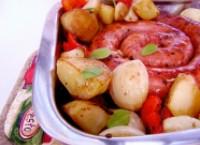 Linguiça Toscana no Forno com Batatas