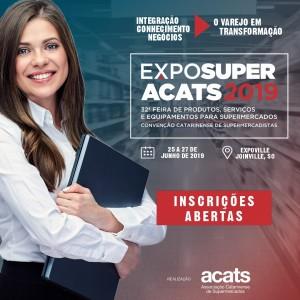 Inscrições Abertas Exposuper Acats 2019