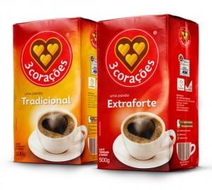 Café 3 Corações Vácuo Tradicional/Extra Forte 500g