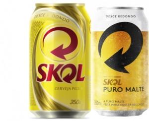 Cerveja Skol Puro Malte e Pilsen Lata 350ml