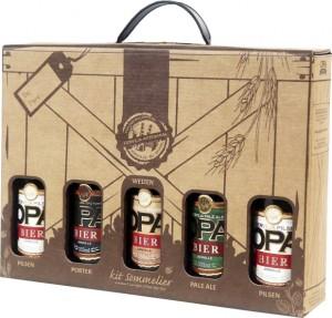 Kit Sommelier Cervejas Artesanais Opa Bier c/ 5 Garrafas 355ml