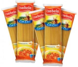 Macarrão Isabela C/ Ovos 500g (Parafuso/Espaguete/N/Pena)
