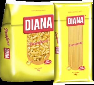 Massa Diana Sêmola Espaguete/Parafuso 1Kg