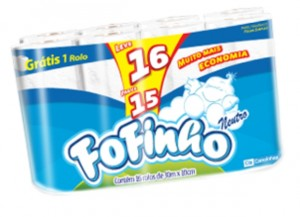 Papel Higiênico Fofinho FS 30m Leve16 Pague15