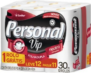 Papel Higiênico Personal Vip FD 30m Leve12 Pague11 rolos